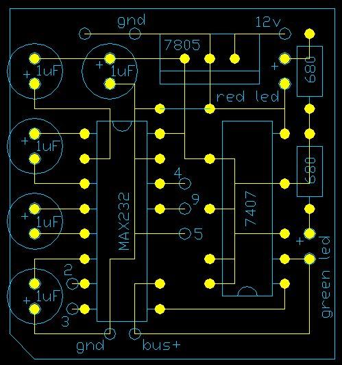 """Схема 1. С ней все ясно, она только для Рс с  """"общим """" RxTx сигналом. - и вроде только для моторолы."""